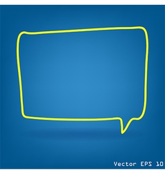 speech bubble with drawing concept idea vector image vector image