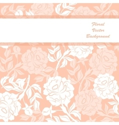 Vloral background vector image vector image