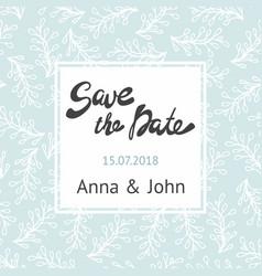 Wedding invitation postcard with a delicate design vector
