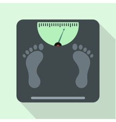Weight scale icon flat style vector image vector image