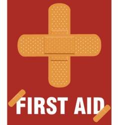 First aid poster vector