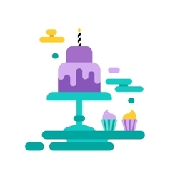 Birthday party set icons or elements vector