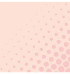 Pink background with big and small dots vector image