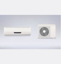 Air conditioning electronic appliance to clean vector