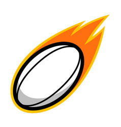 sport ball fire rugby vector image