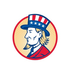 Uncle sam american side vector