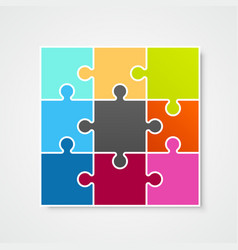 Puzzle frame template design element vector