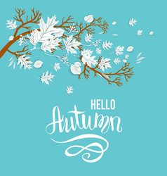 Fall blue background vector