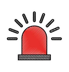 Siren alert isolated icon vector