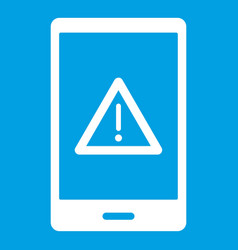 Not working phone icon white vector