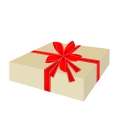 A lovely gift box with red ribbon vector