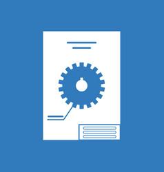 icon car gear scheme vector image