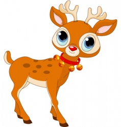 Cartoon rudolf vector