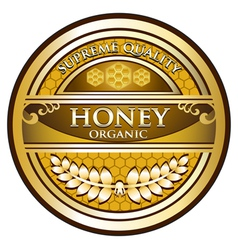 Honey gold label vector