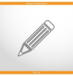 Pencil web flat icon vector