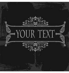 Ornate grunge scroll vector