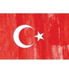 Turkey country flag grunge vector