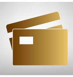 Credit card sign vector
