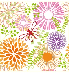 seamless flower butterfly vector image
