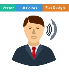 Flat design icon of businessman avatar making vector
