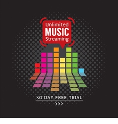 Unlimited music streaming vector