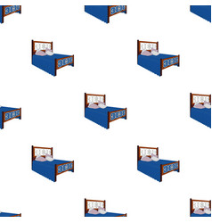 A bed with backs pillows and a coverlet beds vector