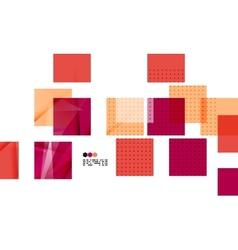 Bright red geometric modern design template vector
