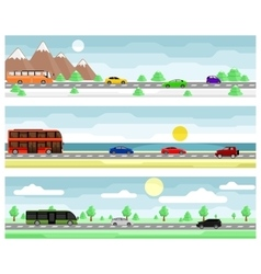 Car travel banners vector image