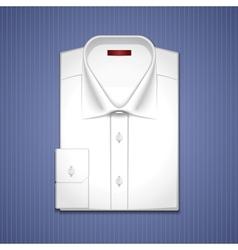 classic white shirt vector image