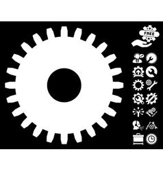 Cogwheel Icon with Tools Bonus vector image vector image