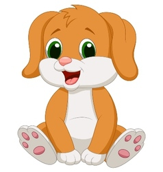 Cute baby dog cartoon vector image vector image
