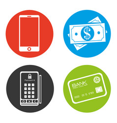 Electronic commerce concept icon vector