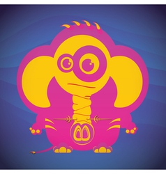 Elephant with nose piercings vector image vector image