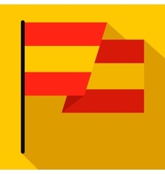 Flag of Spain icon flat style vector image vector image