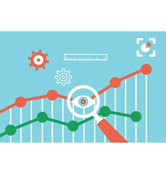 Flat concept of web analytics information vector image