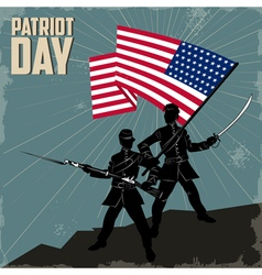 happy patriots day vector image