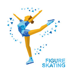 ladies figure skating skating girl - ice show vector image