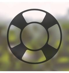 lifebuoy icon on blurred background vector image