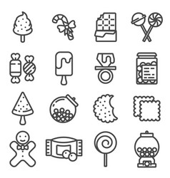 line candy icon set vector image
