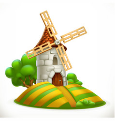 Mill 3d icon vector
