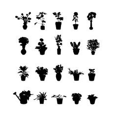 Pack of Flower Pots vector image
