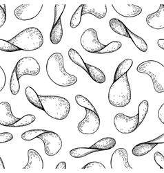 Potato chips seamless pattern Hand drawn vector image
