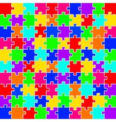 puzzles background vector image