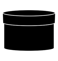 Round box icon simple style vector image vector image