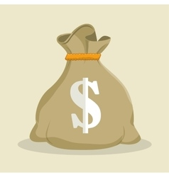 Sack money dollar save icon vector