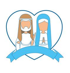 Saint joseph and virgin mary vector