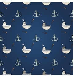 Seamless abstract pattern nautical and marine vector image