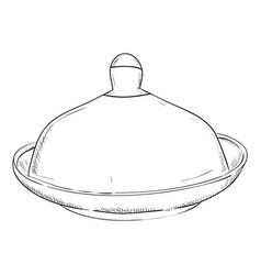 sketch of doodle pan vector image vector image