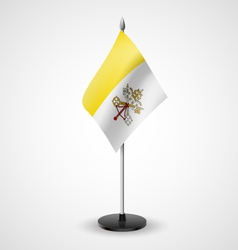 Table flag of vatican city vector