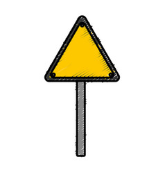 Warning road sign icon vector